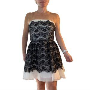 XXI Formal Strapless Lace appliqué party dress